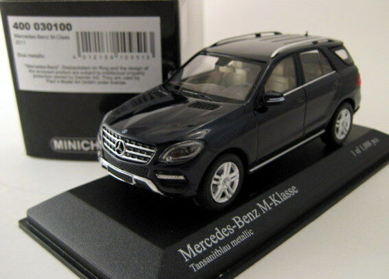 Mercedes m - klasse 2011 tansanit blau metallic minichamps 400030100 1   43 blau
