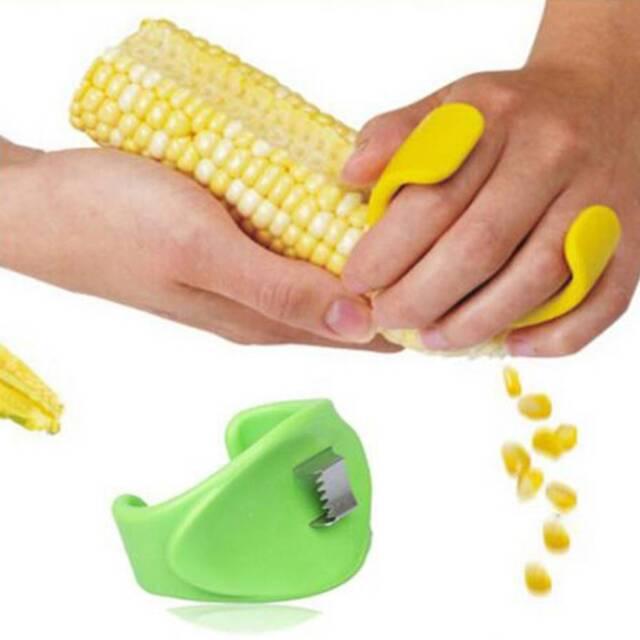 Corn Cob Kerneler Stripper Peeler Kitchen Tool Stainless Random Color Easy Peel