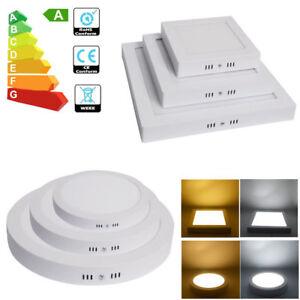 Downlight-Plafon-Superficie-LED-Redonda-Cuadrado-12W-24W-Luz-Blanco-Frio-Calido