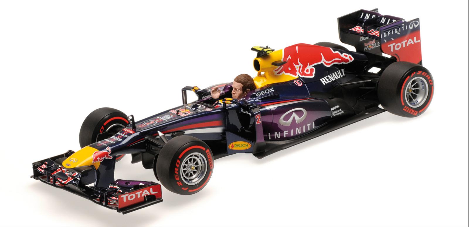 1 18 rouge Bull Renault RB9 Webber Brazil 2013 1 18 • Minichamps 110130102