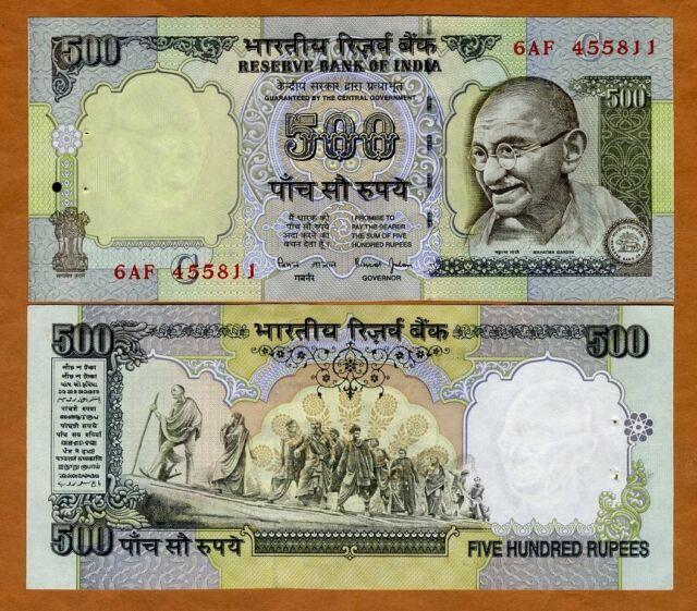 India, 500 Rupees, ND (1997), P-92d, W/H UNC > Gandhi