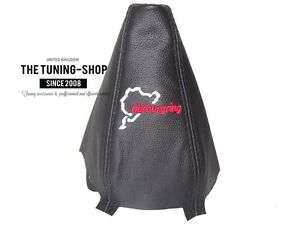 For-Audi-A4-B7-04-08-Gear-Boot-Black-Leather-034-Nurburgring-034-Embroidery