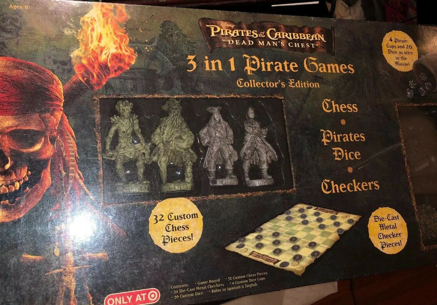 Pirates Of The Caribbean Dead Man's Chest 3 In 1 Pirate Game Sealed Chess++