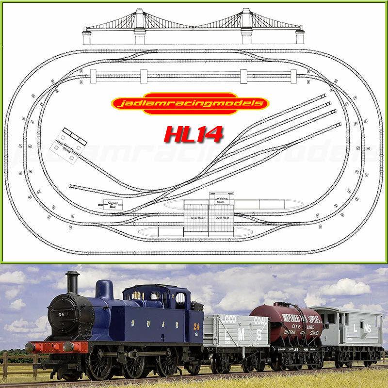 HORNBY Digital Train Set HL14  2019 gree Layout with Suspension Bridge