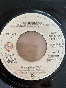 "Alice Cooper - Seven & Seven Is // 7"" - US-Pressing 1983 - Promo Copy - TOP"