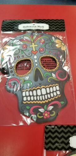 Halloween Mask Day of the Dead Sugar Skull Mask or Decoration Choose from 3