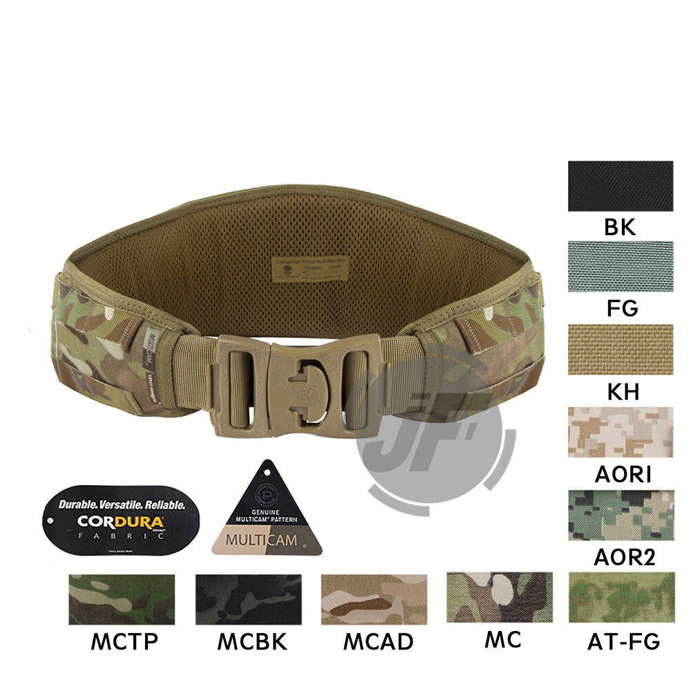EmersonGear Tactical Padded MOLLE  PALS  Waist Belt Battle Multi Function Belt  online shopping and fashion store