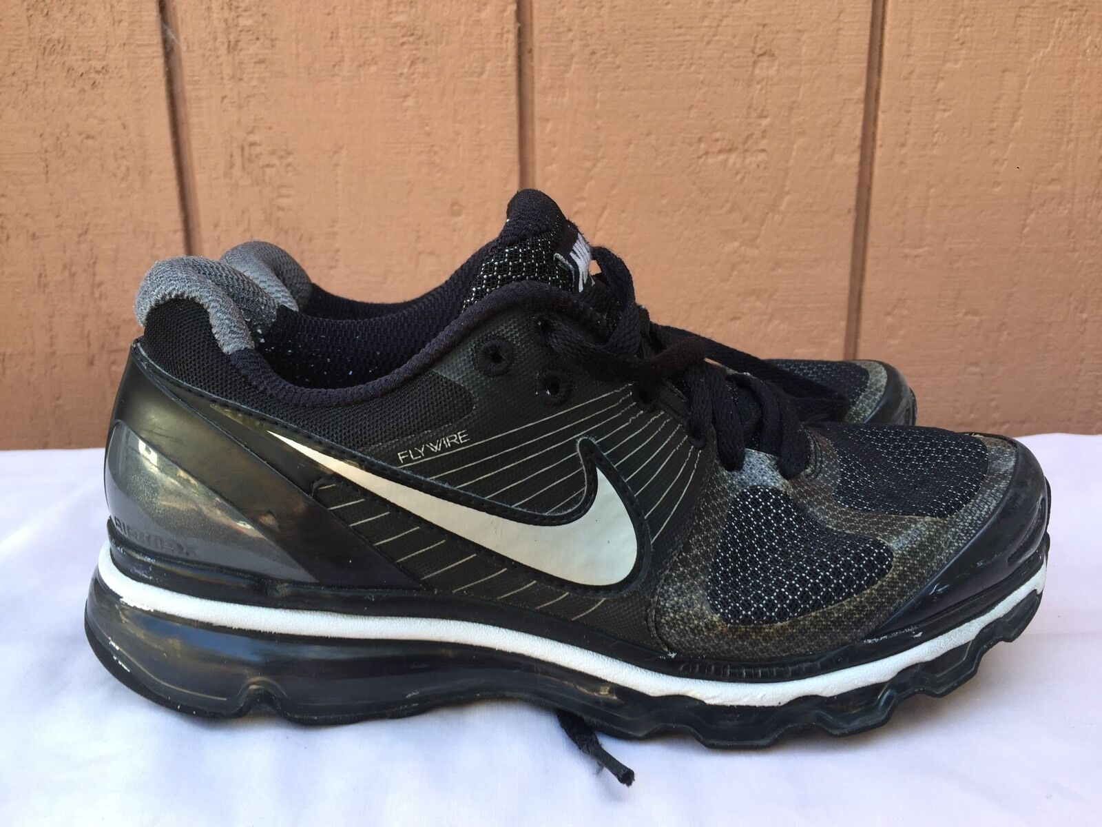 EUC Womens Nike Air Max 360 Running Shoes Black Gray 386374 004 US 8.5  New shoes for men and women, limited time discount