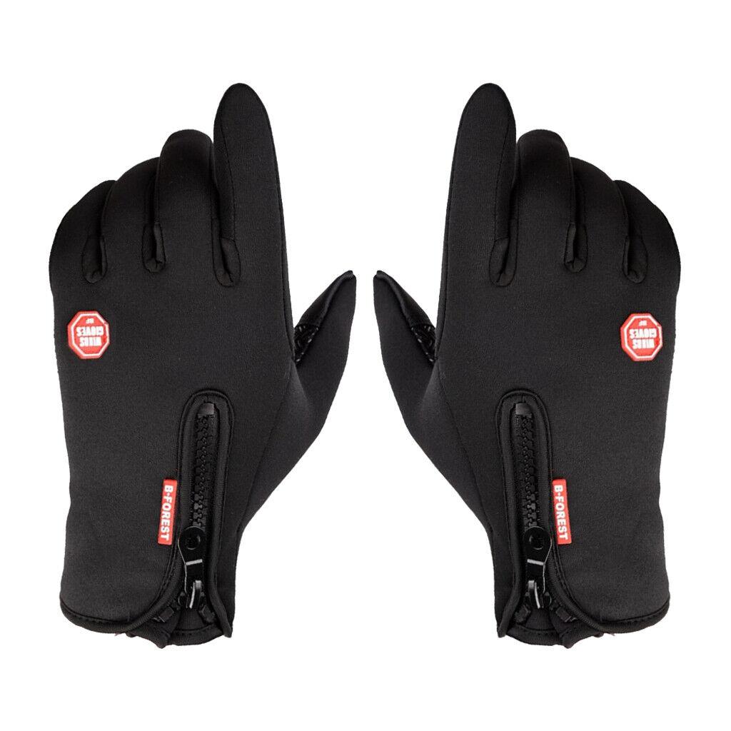 1 Pair Men's Gloves Thermal Fleece Glove Touch Screen Anti-Skid Mitten