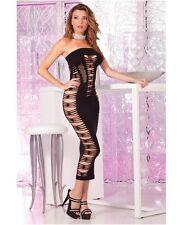 PINK LIPSTICK SEAMLESS SLIT TUBE DRESS New - One Size