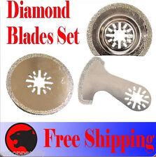 3 Diamond Cut Oscillating Multitool Blade For Dremel Multi Max Milwaukee Chicago