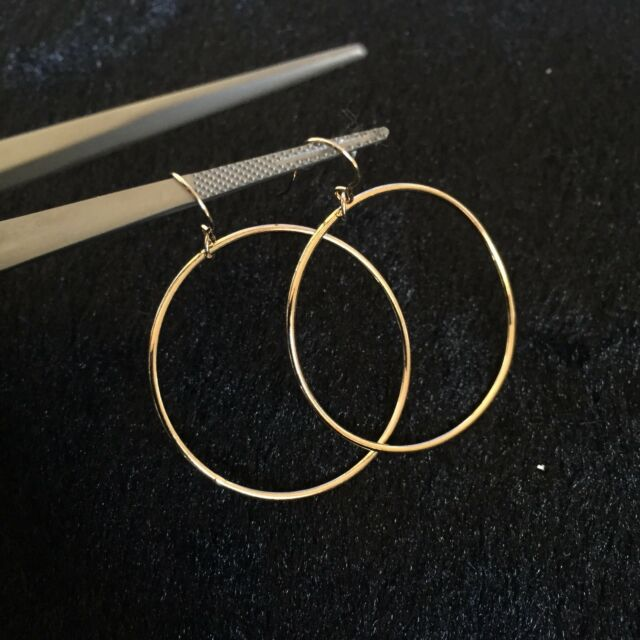 New Fashion 14K Gold Filled  Hoop earrings Original works