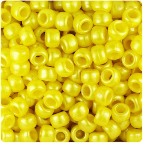 *3 FOR 2* 100 x Yellow Pearl 9x6mm Barrel Shape Highest Top Quality Beads