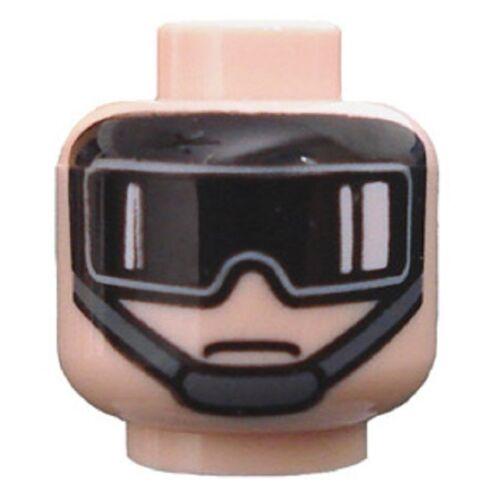 x1 NEW Lego Head Star Wars Minifig Head Imperial AT-ST Pilot Light Flesh