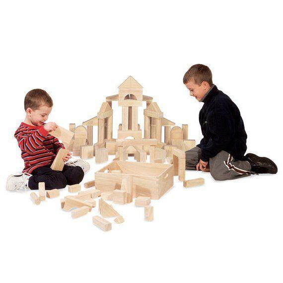 XXL Holz Bausteine 60stk Massives Hartholz Bausteine für draußen Bauklötze