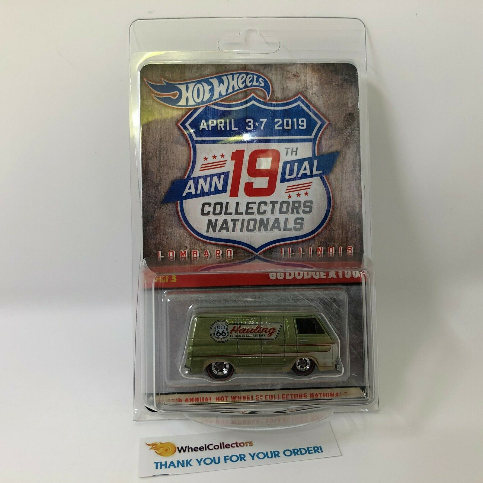 '66 Dodge A100 finale voiture  HOT WHEELS 19th ressortissants Convention  WC17