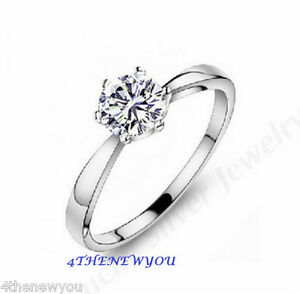 Image Is Loading 925 Sterling Solid Silver Womens Ladies Engagement  Valentine