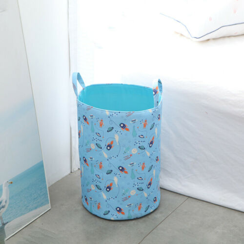 Foldable Laundry Hamper Clothes Toy Basket Canvas Waterproof Washing Bag Storage