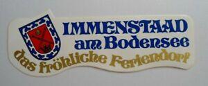 Souvenir-Aufkleber Immenstaad At Bodensee The Merry Feriendorf 80er