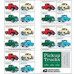 20 USPS STAMPS 2016 PICKUP TRUCKS Forever Postage Stamps 1 Booklet