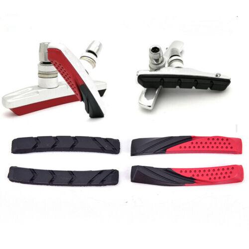 1 Pair Bike Bicycle Brake Pads Bicycle Braking V-Brake Holder Shoes Rubber Pads