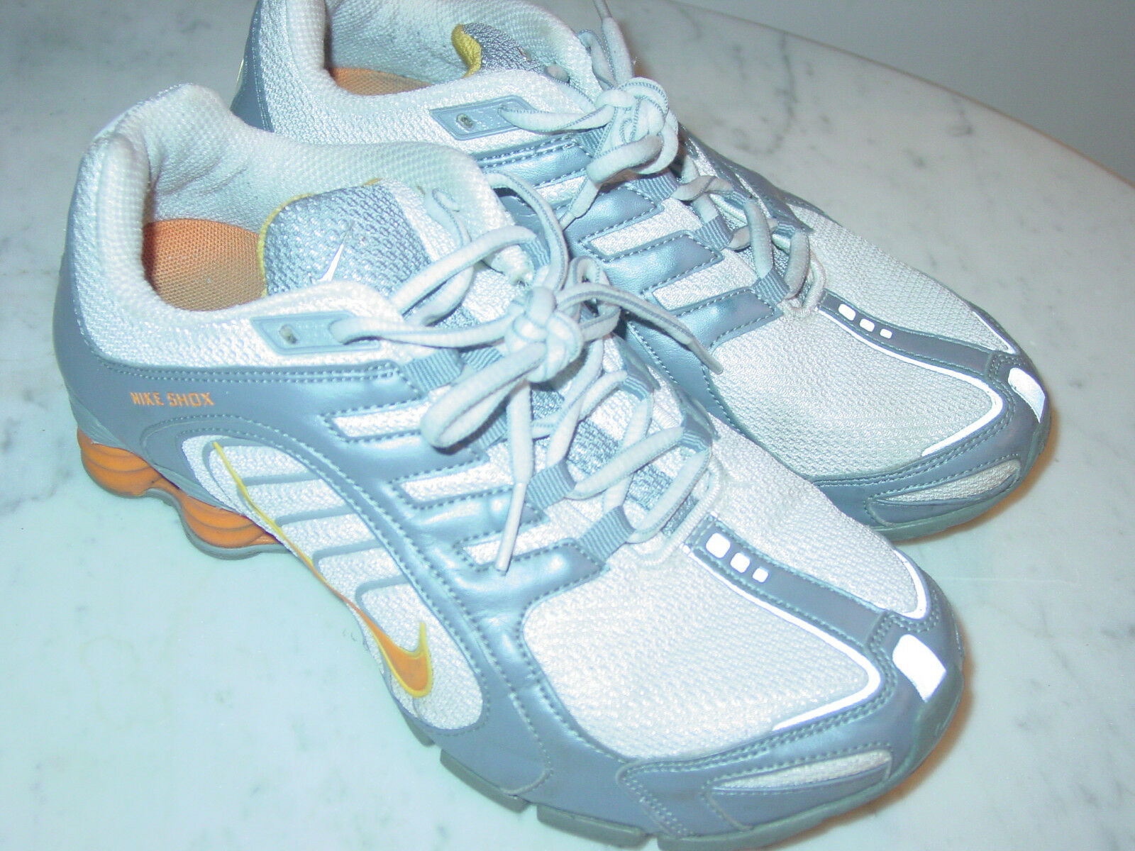 2007 Nike Shox Navina+ White orange Peel Stealth Running shoes Size 7  160.00