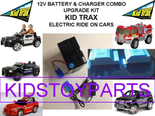 LONG LASTING REPLACEMENT KID TRAX 12V RECHARGEABLE BATTERY & CHARGER COMBO