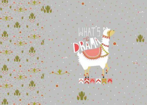 Lama panel elástico de jersey gris motivo sustancia niños de tela de tela con alpaca