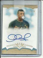 Adam Jones 2011 Topps Tier One Crowd Pleasers Auto Autograph /75  Orioles