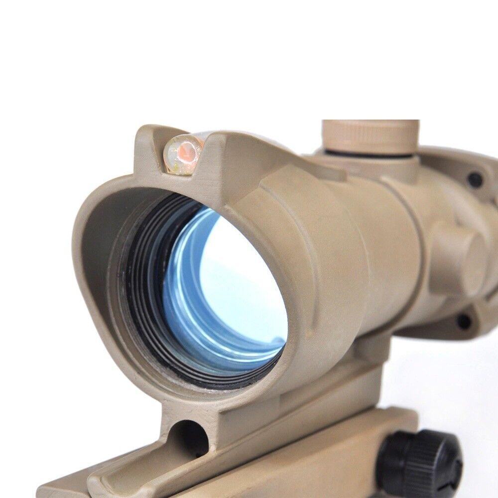 Hunting ACOG Style 4X32 Real Fiber Source ROT Crosshair Crosshair ROT Illuminated Rifle Scope f5eb2e