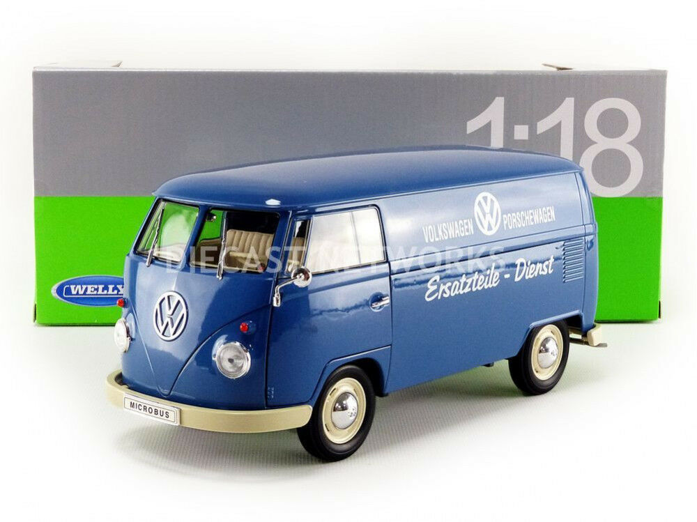WELLY - 1 18 - VOLKSWAGEN COMBI T1 BUS PANEL VAN - 1963 - VW PORSCHEWAGEN - 1805