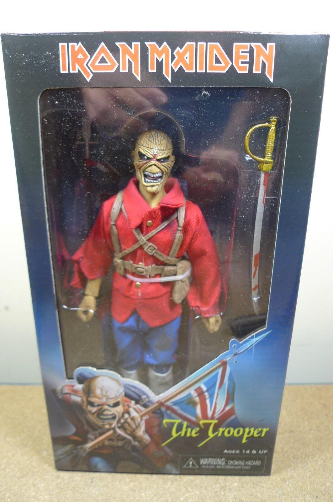NECA Iron Maiden 8  il Trooper Vestito Eddie Action Figure 1983 copertina singola BN