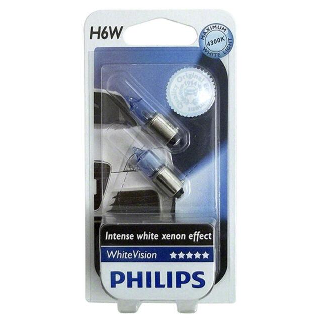 Philips H6W WhiteVision 6 Watt 12 Volt 12036 Licht Autolampe Xenon BAX9s