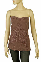 102461 New Free People The Music City Patchwork Tie & Dye Brown Tube Top S 4