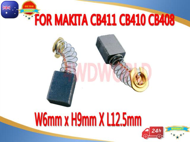 Carbon Brushes For Makita CB411 CB410 CB408 9522NB 9520B 6950 6920NB 6X9X12.5mm