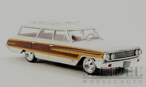 Wonderful modelcar FORD COUNTRY SQUIRE 1964 -  white wood  -  1 43
