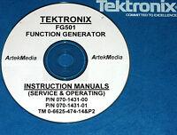 Tek Fg501 Function Gen. Instruction (ops/serv) Manual