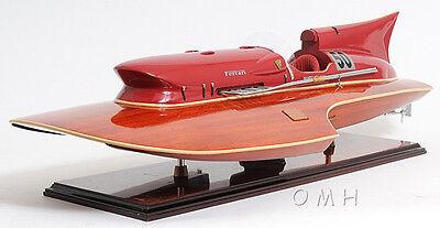 "Arno Ferrari Hydroplane Wooden Power Speed Boat Racing Model 32"" New"