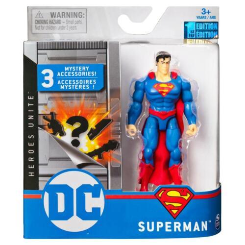 DC EROI unire Figura 4 pollici-SUPERMAN-Nuovo di Zecca