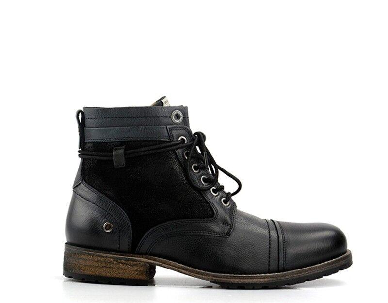 Zapatos pepe jeans hombre negro naturaleza cuero pms50054-999