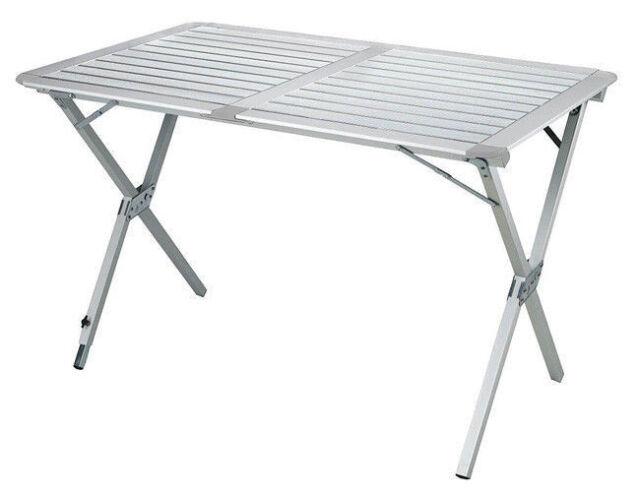 Table Table de Camping Pliante l/ég/ère en Aluminium portative for Les activit/és de Plein air en Plein air avec Barbecue