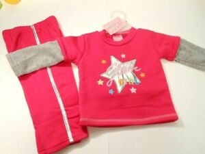 Baby Outfits Girls Pants Tops Pink Infant clothing Shirts Sweatsuit 2 Pc 12 mos