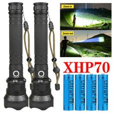 Details about  /350000LM Rechargeable Led Flashlight Tactical Torch /& Battery/&Charger/&Clip