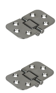 2 x Stainless Steel Hinges 304 Grade Dual Pivot 180 Degree Hinge NEW Boat Marine