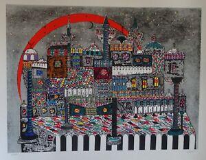 Ovadia-Alkara-Midnight-In-Marrakech-Colorful-Ltd-Ed-Lithograph-Hand-Signed-W-COA