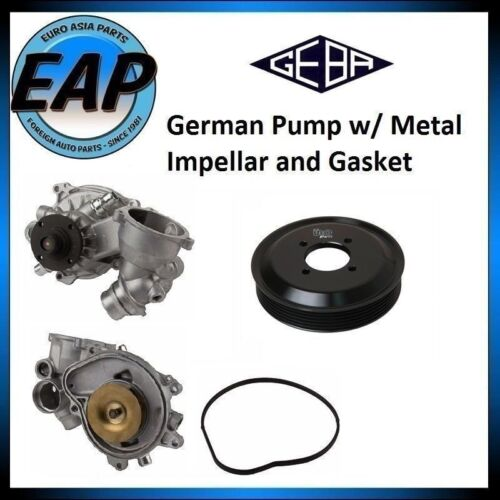 For BMW 545I 645CI 745LI 745I X5 E63 E64 E66 E65 Water Pump w// Aluminum Pulley