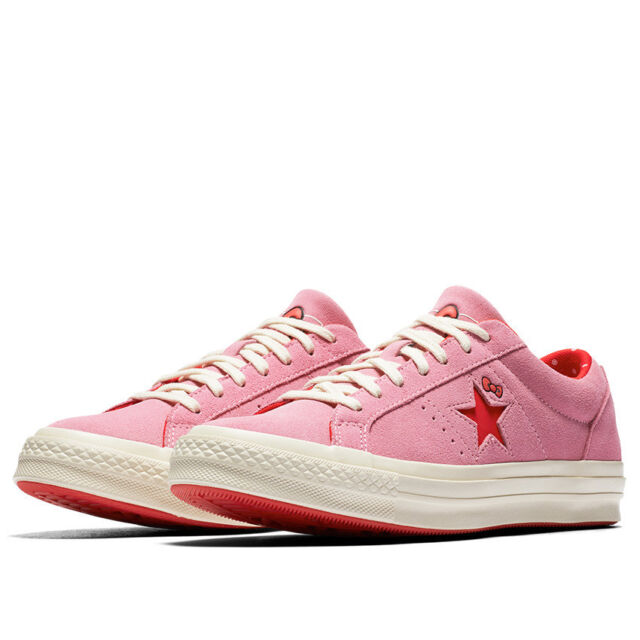 Nike Converse X Hello Kitty One Star Ox Chuck Taylor Prism Pink Sz 8 ... 53fcd89b3