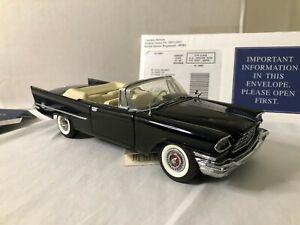 1/24 scale metal FRANKLIN MINT 1957 Chrysler 300 black | eBay
