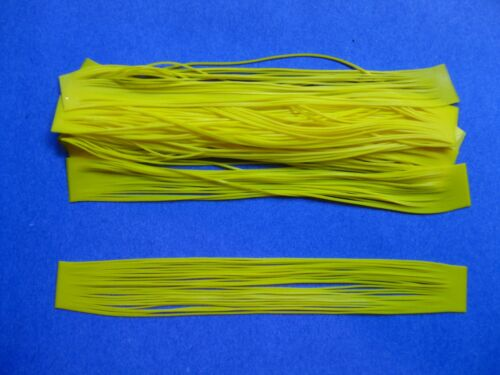 10 Silicone Skirt Tab T94 Solid Yellow Lure Craft Bass Jig Spinner Bait