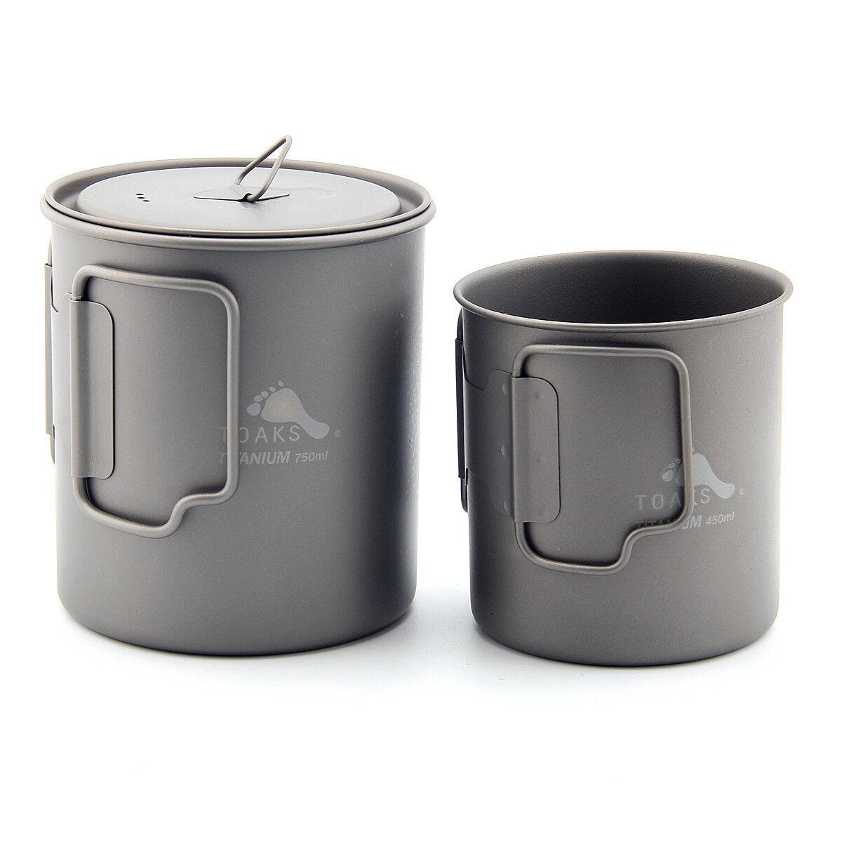 Toaks utensilios de cocina de titanio Camping